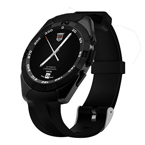 Herzfrequenz-Test & Bluetooth-Musik-Player & Schlaf¨¹berwachung Herzfrequenz Armbanduhr F¨¹r M?nner , Sport Armbanduhr Schwarz Digitale Armbanduhren