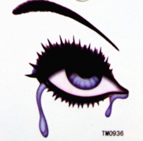 Étanche à l'eau coloré faux tatouages totem larmes