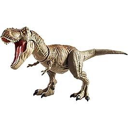Jurassic World Tirannosauro Mordi e Attacca di Dimensioni Superiori con Mosse d'Attacco di Testa e Coda, Giocattolo per Bambini di 4+ Anni, GCT91