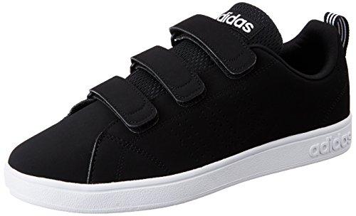 adidas Vs Advantage Clean Cmf, Scarpe da Ginnastica Uomo Nero (Cblack/Cblack/Ftwwht)