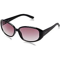 Fastrack Oval Sunglasses (Black) (P185PR2F)