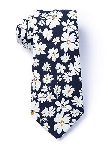 en Krawatte mit Blumenmuster, Baumwolle - Blau - Einheitsgröße ()