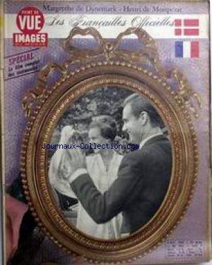POINT DE VUE IMAGES DU MONDE [No 956] du 07/10/1966 - MARGRETHE DE DANEMARK - HENRI DE MONPEZAT - LES FIANCAILLES OFFICIELLES.