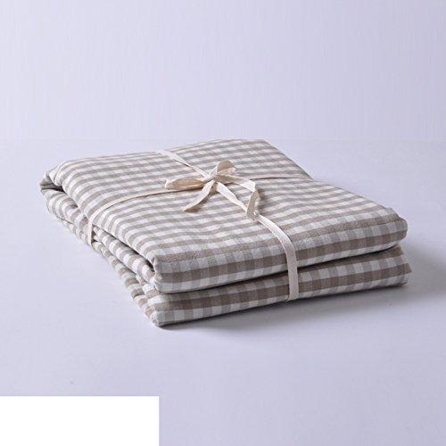 Plaid Quilt Set Bettbezug Reine Baumwoll-Bettwäsche-C 220*240cm(87x94inch)