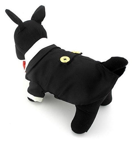 ranphy Kleiner Hund Formale unniform für Pet Katzen Classic schwarz Tuxedo Jacke Hochzeit Kostüm Puppy (Kostüm Dog Scary Spider)