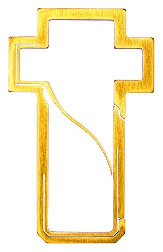 Bico Keyklipz Kreuz Titan Schlüsselring/Karabiner: Stone Finish (kr30a), Metall, Gold