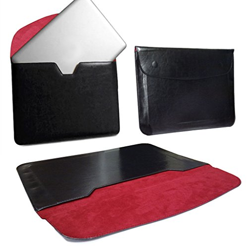 Love My Case schwarz & rot 33,8cm/33cm PU Leder Laptop Sleeve Case/Cover/Tasche für Panasonic Toughbook CF-29mit 5x LMC Reinigungstücher
