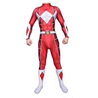 TOYSSKYR Power Rangers Cosplay Costume Body Tights Halloween Stage Show Costume Props ( Color : Red , Size : M )