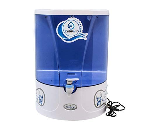F FLORIAN Plastic Neptune RO+Mineral Water Purifier, 10 L (Standard Size, White)