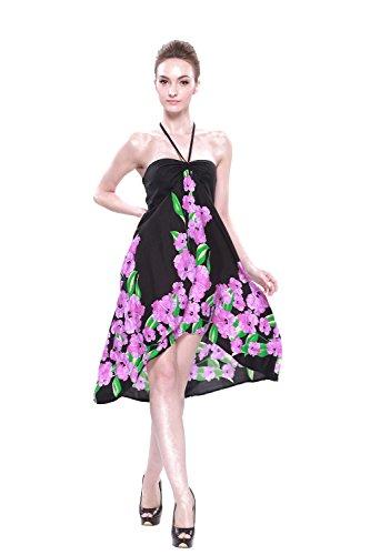LLJ-Hawaii-Vestido-hawaiano-de-la-mariposa-de-las-mujeres-en-l-impresiones-S