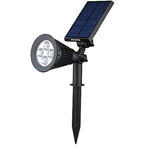 [200 Lúmenes] Luz Solar de LED de VicTsing Impermeable, Luz de Paisaje al Aire Libre, para Calzada, Patio, Cesped, Pathway,