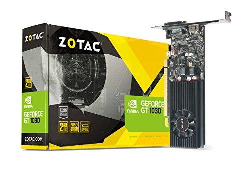 Zotac GeForce GT 1030 Grafikkarte (NVIDIA GT 1030, 2GB GDDR5, 64bit, Base-Takt 1227 MHz / Boost-Takt 1468 MHz, 6 GHz)