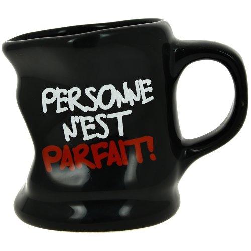Promobo - Mug Tasse à Café Froissé Design Fun Mot Personne Noir