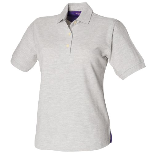 Henbury Ladies Cotton Shirt, Polo Femme Rose - Lilas
