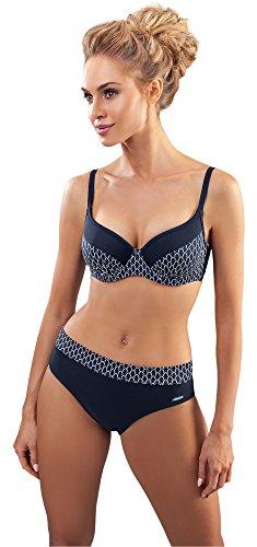 aQuarilla Damen Bikini Set AQ194 (Schwarz/Muster, ()