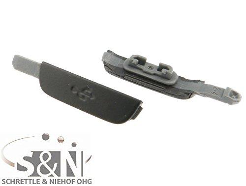 NG-Mobile USB Abdeckung Dichtung Propfen Kappe Cover Deckel für Samsung Galaxy S4 Active GT-i9295 grau/dunkelblau
