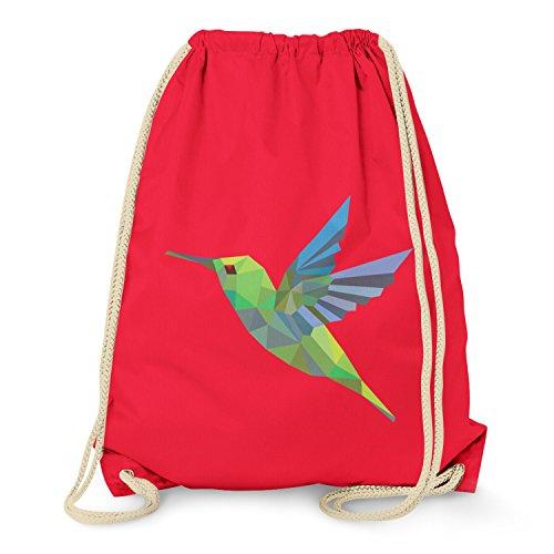 TEXLAB - Polygon Kolibri - Turnbeutel, rot (Rot Kolibri)