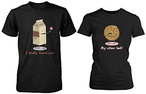 Cute A Juego par camisas–Leche y Chocolate Chip–Regalos para parejas