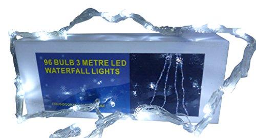 Christmas Concepts® 3 Meter-Weiß LED-Wasserfall-Effekt Lichter - Weihnachten und das ganze Jahr (Lichter Wasserfall Weihnachten)