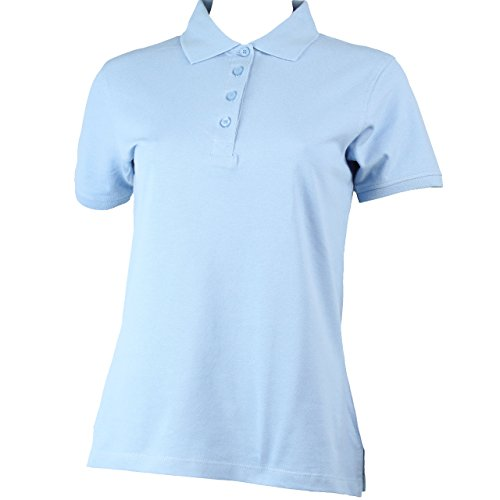 Damen Polo-Shirt kurzarm mit Knopfleiste in 9 Farben BLUE RAVEN Skyblue