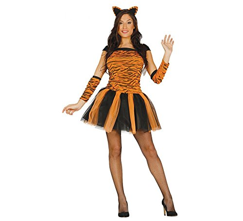 Sexy Kostüm Tiger - sexy Tiger Kostüm für Damen Karneval Fasching Tier Tigerkostüm Kleid Tutu Gr. M, Größe:S