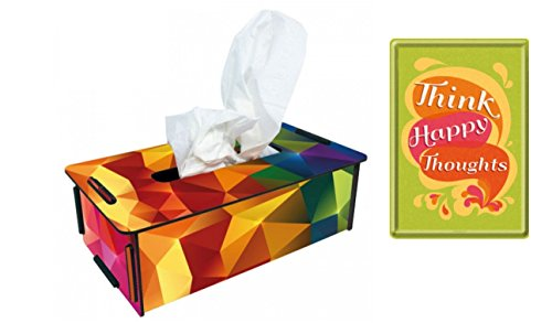 tissue-box-prisma-bunt-blechpostkarte-think-happy-thoughts-set-