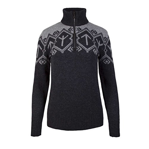 Dale of Norway Damen Tora Pullover, Schwarz, Large - Lamm-wolle Pullover