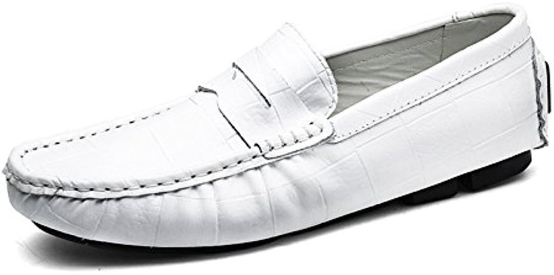 NBWE Neue Herren Lederschuhe Peas Schuhe Frühling und Sommer Fahren Schuhe Freizeitschuhe Atmungsaktiv
