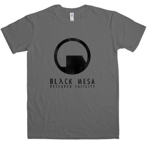 Refugeek Tees - Herren Black Mesa T Shirt - Medium - Charcoal (Black Mesa-shirt)