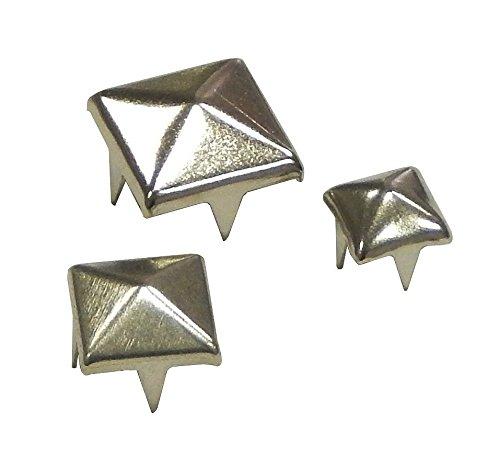 Perlin - 900stk Spitzenieten Killernieten Ziernieten Metall 10mm 8mm 6mm Altsilber Nieten Spikes Spitz Gothic Punk Metall Pyramiden Rock Leder Tasche Schuh Nieten für Mode Handwerk und Design