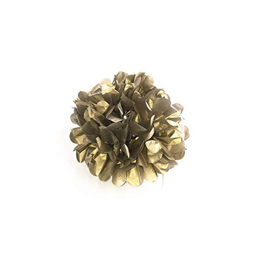 Künstliche Blumen pompom Kugel Hochzeit Geburtstag Partei-Dekoration Seidenpapier Pom Poms, glänzendes Gold, 6 Zoll (Für Babys Gold Earing)
