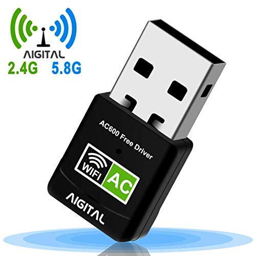 WLAN Adapter,WiFi Stick 600Mbps Mini Dual Band 2.4GHz / 5GHz Wireless USB Adapter Empfänger 802.11ac/n/g/b Netzwerk Dongles WPS,für PC,für Windows XP / 7/8 /10/ Vista Keine CD benötigt Plug & Play Usb-empfänger