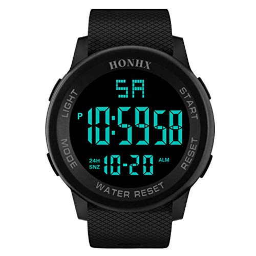 Xuthuly Herren Laufen Mode Freizeit Luxus Männer Analog Digital Military Sport LED Wasserdichte Armbanduhr Prevalent Casual Classic Black TPU Strap Watch