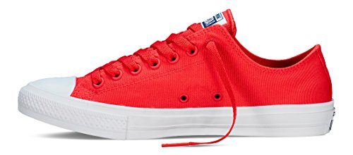 Converse Unisex-Erwachsene Sneakers Chuck Taylor All Star II C151123 Low-Top Rot (Red/Navy/White)