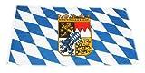 Original Handycop® Flagge Fahne F92574 Bayern Landesflagge mit Wappenschild des Freistaats Bayern 90 x 150 cm - wetterfeste Qualität