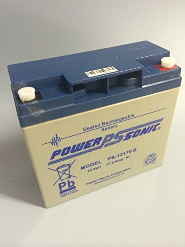 Akku (Blei) 12V 17,0Ah - Powersonic PS-12170B mit VdS Zulassung - Wiederaufladbar - Rechargeable Sealed Lead Acid (SLA) Battery - Ah Sla-batterie