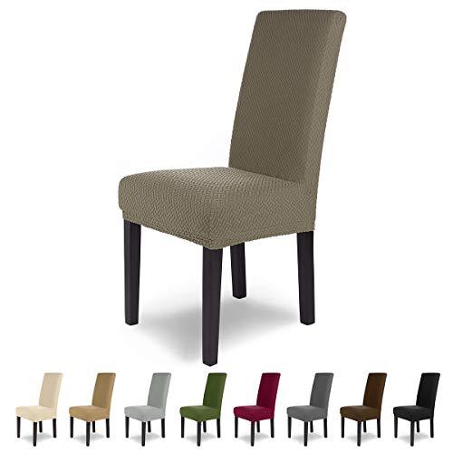 SCHEFFLER-Home Luna 2 Fundas de sillas, Estirable Cubiertas, Chenilla extraíble flexibel Funda...