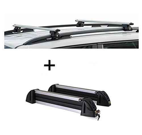 VDP CRV120A + Porte-Skis/Porte-Skis en Aluminium 4 Paires de Skis Opel Agila 00-08