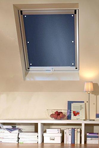Clothink 60x115cm Thermo Sonnenschutz für Dachfenster | Hitzeschutz für Innen | ohne Bohren ohne kleben mit 6 stabil Saugnäpfe | große Auswahl für Velux + Roto Fenster | 1Stück dunkelgrau