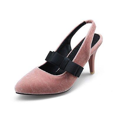 Sandales femmes Printemps Été Automne Bureau Fleece Slingback & partie de carrière & tenue de soirée Talon Blushing Pink
