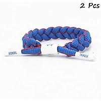 FANwenfeng Basketball Team Fan Armbänder Hand weben Verstellbare Sport Schnürsenkel Armband 2 Stück