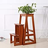 Step Stool Wooden - Trittleitern Faltbarer Haushalts-Trittleiter aus Holz Multifunktionsleiter Einfaches Regal für Kinder Erwachsene Welcome (größe : 35.5X36.5X74CM)