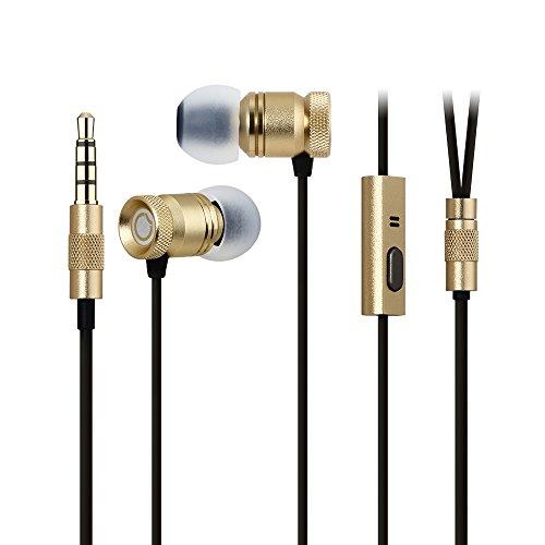 Auricolari Cuffie In-Ear Bass ,GGMM Nightingale Cuffia In-Ear, Earphones Stereo Ultra Comoda con il Microfono Ergonomica e Tasto Multifunzione, 1,2 m per Smartphone e Tablet