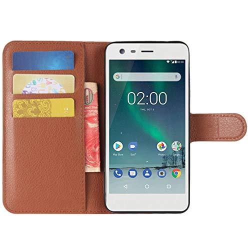 HualuBro Moto X2 Hülle, Premium PU Leder Leather Wallet HandyHülle Tasche Schutzhülle Flip Case Cover für Motorola Moto X 2. Generation XT1092 Smartphone (Braun)