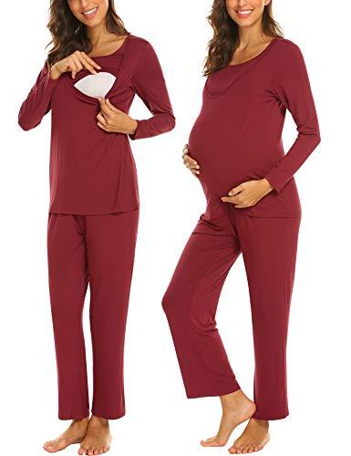 Umstandspyjama lang in verschiedenen Farben