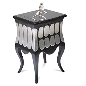 Commode Toilette Swithome Pomp Noir/Argenté