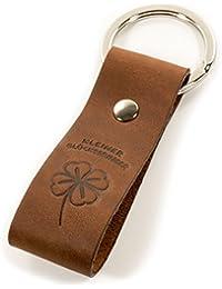 Design Schlüsselanhänger Kleiner Glücksbringer aus Leder - Talisman - Geschenkidee - hochwertige Haptik - Geschenkbox