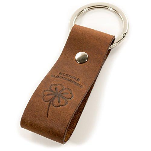 Design Schlüsselanhänger Kleiner Glücksbringer aus Leder - Talisman - Geschenkidee für Damen & Herren - hochwertige Haptik - edle Geschenkbox - flacher Schlüsselring - Original Luminick® (Glücksbringer Schlüsselanhänger)