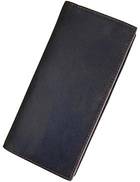 OMMILA billetera de hombres Billetera retro de los hombres Personalidad creativa billetera regalo Billetera larga...