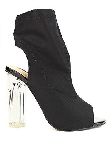Cendriyon, Escarpin chaussette Noir CHIC NANA Chaussures Femme Noir